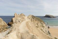 La playa de Arnia Imagen de archivo