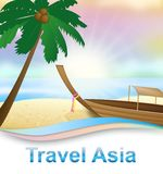 La playa de Asia del viaje que indica viajes dispara el ejemplo 3d libre illustration