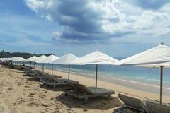 La playa de Balangan es una del más hermosa de Bali Fotos de archivo libres de regalías