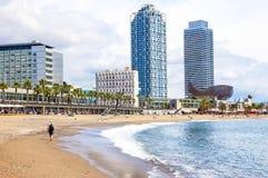 La playa de Barceloneta. Fotografía de archivo