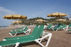 La playa de Calella Imagen de archivo libre de regalías