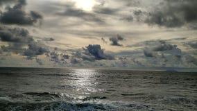 La playa de Carita, banten Imagen de archivo libre de regalías