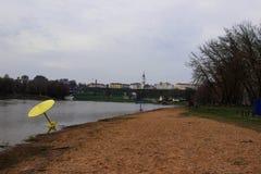 La playa de la ciudad de Mogilev en Bielorrusia fotos de archivo libres de regalías