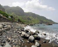 La playa de Fajan D'Agua Imagen de archivo libre de regalías