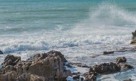 La playa de Ibiza, España Fotografía de archivo