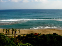 La playa de Jungmun Jeju-hace Corea Imagenes de archivo