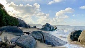 La playa de KheaKhea, provincia de Pattani el mar en Tailandia es tan hermosa imágenes de archivo libres de regalías