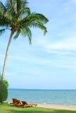 La playa de la silla Fotos de archivo libres de regalías