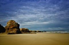 La playa de las catedrales es una de las playas m?s hermosas de Espa?a, localizado en Galicia en el norte de Espa?a foto de archivo