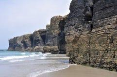 La playa de las catedrales (España) Fotografía de archivo