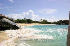 La playa de los baños Imagen de archivo libre de regalías
