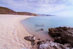 La Playa de Los Muertos in Cabo De Gata lizenzfreies stockfoto
