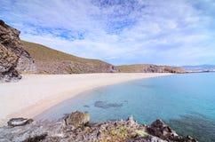La Playa de Los Muertos i Cabo de Gata Fotografering för Bildbyråer