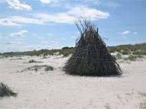 La playa de Mar del Norte Fotografía de archivo libre de regalías