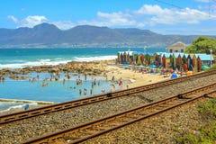 La playa de Muizenberg Imagen de archivo libre de regalías
