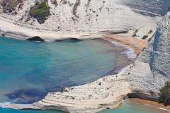 La playa de Peroulades Fotos de archivo libres de regalías