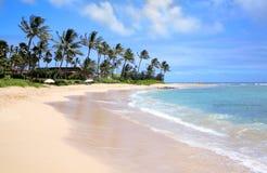 La playa de Poipu ningunas personas Fotografía de archivo libre de regalías