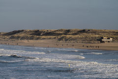 La playa de Scheveningen en los Países Bajos Imagen de archivo
