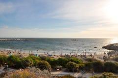 La playa del bañista Imagen de archivo libre de regalías