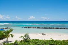La playa del Caribe Imagen de archivo libre de regalías