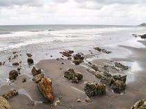 """La playa del  de Quebrantos†de los """"Los San Juan de la Arena asturias españa Foto de archivo"""