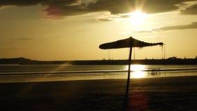 La playa del EL Jadida por la tarde, puesta del sol foto de archivo libre de regalías