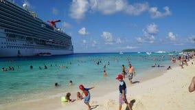 La playa del gobernador en Turk Island magnífico Fotos de archivo