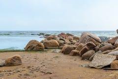 La playa del mar Báltico en Repino cerca de St Petersburg Imagenes de archivo