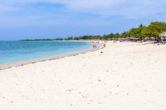 La playa del paraíso del Ancon de Playa en Cuba imágenes de archivo libres de regalías