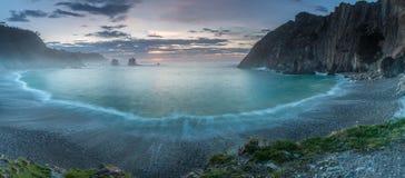 La playa del silencio foto de archivo