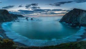 La playa del silencio Foto de archivo libre de regalías