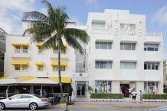 La playa del sur del grande hotel de las casas Fotos de archivo libres de regalías