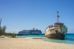 La playa, el turco magnífico, los turcos y Caicos del gobernador, del Caribe Imagen de archivo