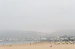 La playa en Agadir fotos de archivo libres de regalías