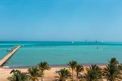 La playa en el Mar Rojo Fotografía de archivo