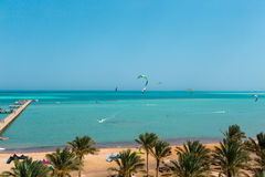 La playa en el Mar Rojo Imagen de archivo libre de regalías
