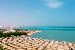 La playa en el Mar Rojo Fotografía de archivo libre de regalías