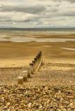La playa en Findhorn Imagen de archivo