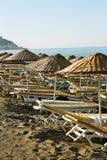 La playa en la madrugada fotografía de archivo libre de regalías