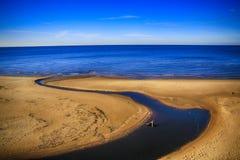 La playa en Saulkrasti, Letonia Imagen de archivo libre de regalías