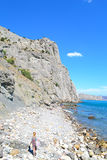 La playa en Sudak Imágenes de archivo libres de regalías