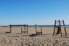 La playa en Valencia imagenes de archivo