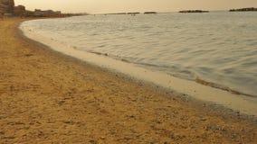 La playa está situada en la ciudad de Viserbella fotografía de archivo libre de regalías