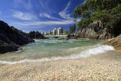 Soporte exfoliado Maunganui, Nueva Zelanda de la playa Foto de archivo libre de regalías