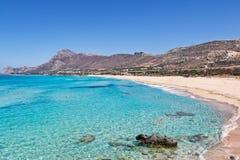 La playa Falassarna en Creta, Grecia Fotos de archivo libres de regalías