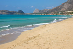 La playa hermosa de Falassarna Fotos de archivo libres de regalías