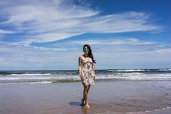 La playa hermosa de Punta del Este, Uruguay fotografía de archivo