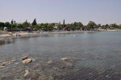 La playa hermosa Limassol del ` s del gobernador en Chipre fotografía de archivo