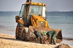La playa limpia Foto de archivo libre de regalías