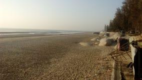 la playa más larga del mar en el mundo imágenes de archivo libres de regalías